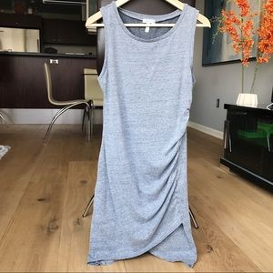 Leith Grey Ruched Body-con Tank Dress - size Large